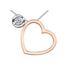 I am Canadian Multiple Looks (0.09ct) Canadian Diamond Heart Pendant