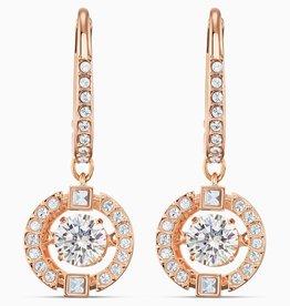 Swarovski Swarovski Sparkling Dance Dangle Earrings, White, Rose Gold Tone Plated