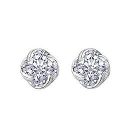 Maple Leaf Diamonds Winds Embrace (0.20ct) Canadian Diamond Earrings 18K White Gold