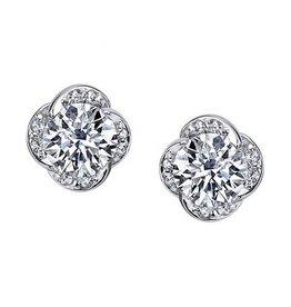 Maple Leaf Diamonds Winds Embrace (0.60ct) Canadian Diamond Earrings 18K White Gold