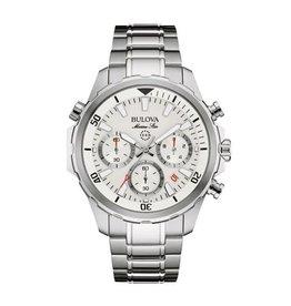 Bulova Bulova Marine Star Mens Chronograph Silver Tone Watch