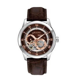 Bulova Bulova Classic Automatic Mens Brown Leather Strap Watch