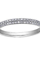 (10K, 14K) White Gold (0.25ct) Diamond Stackable Wedding Band