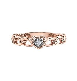 Illuminaire Rose Gold Diamond Heart Ring
