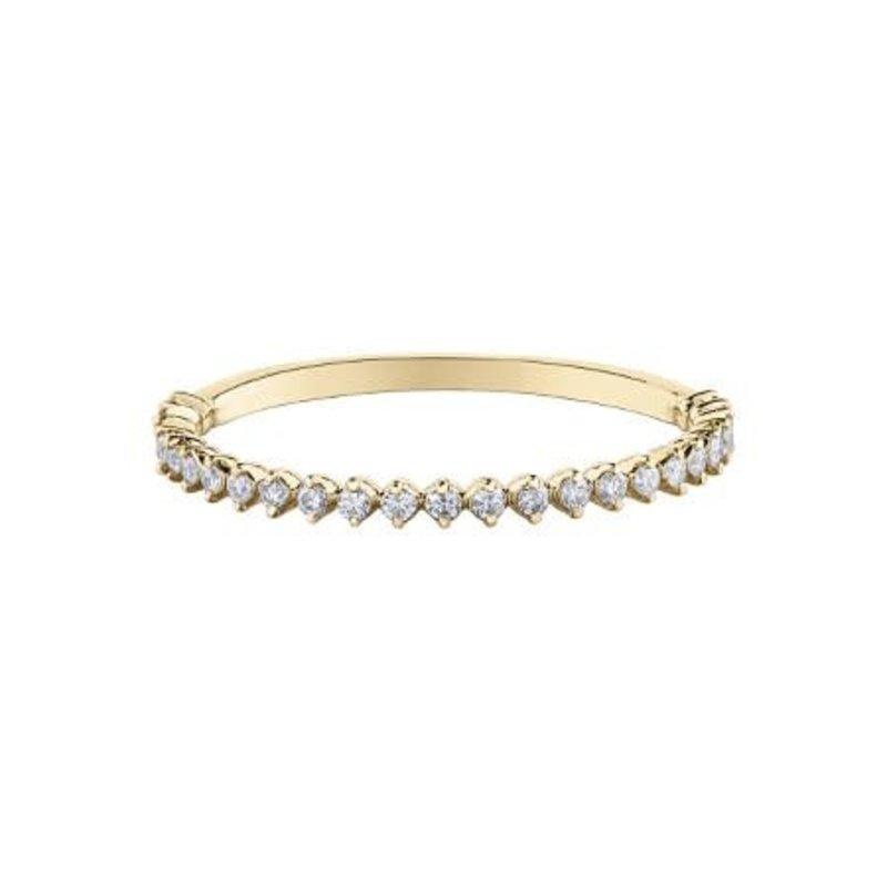 10K Yellow Gold (0.15ct) Diamond Stackable Wedding Band