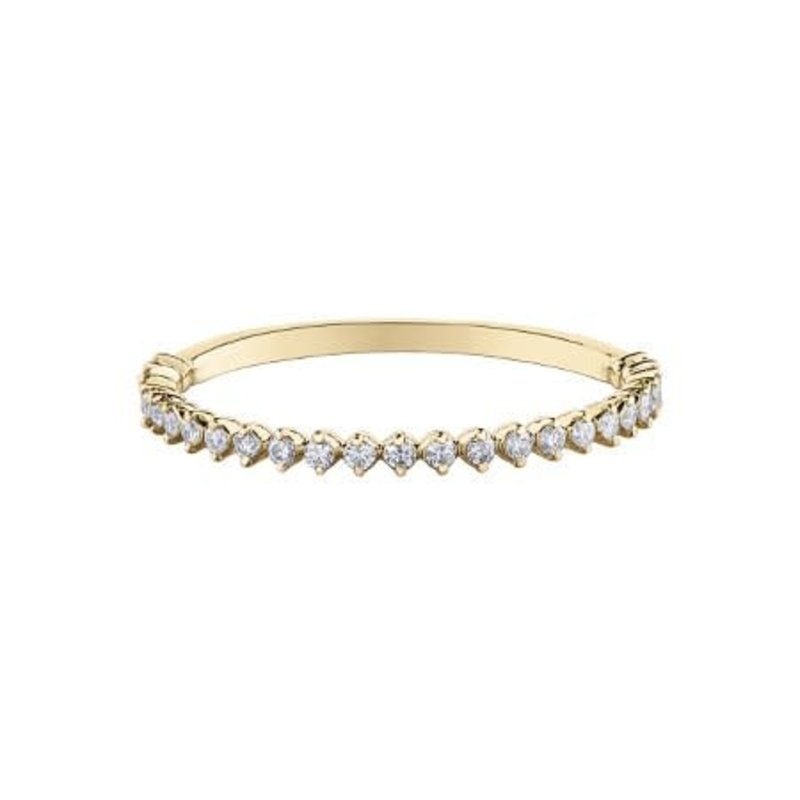 10K Yellow Gold Diamond (0.15ct) Stackable Ring