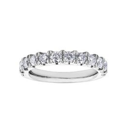 10K White Gold Diamond (1.00ct) Anniversary Band