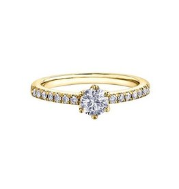 Maple Leaf Diamonds 14K Yellow Gold (0.50ct) Canadian Maple Leaf Diamond Ring