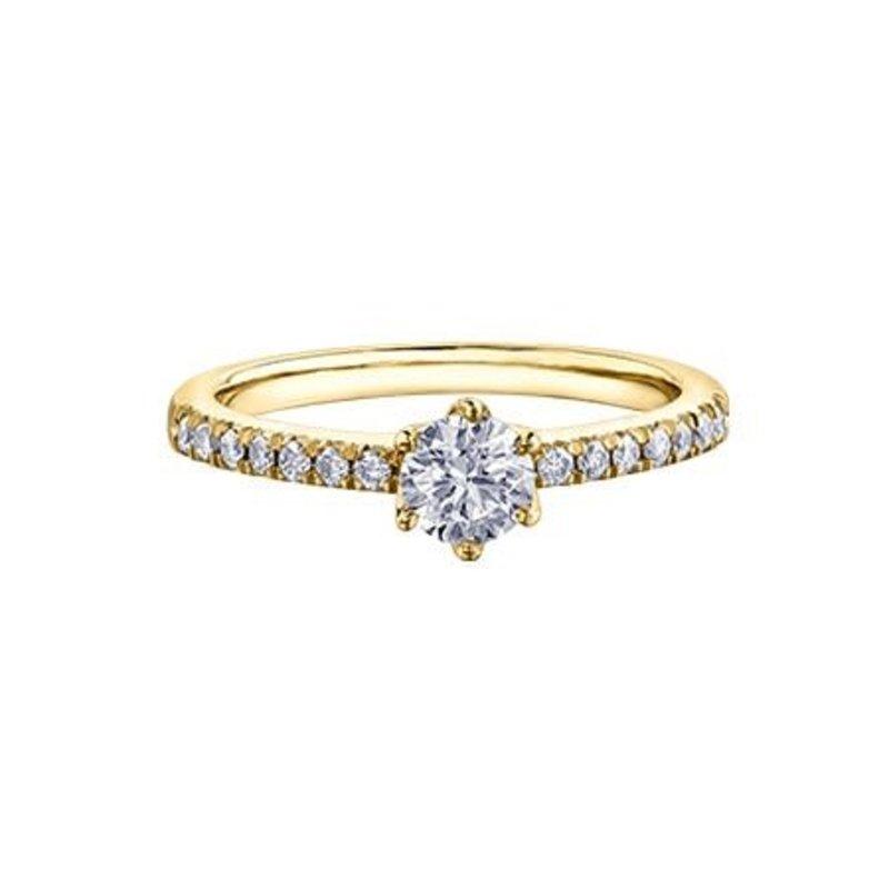 Maple Leaf Diamonds 14K Yellow Gold (0.50ct) Canadian Maple Leaf Diamond Ring