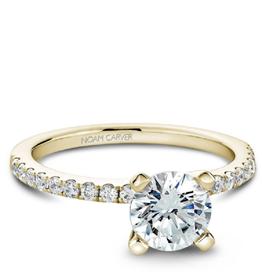 Noam Carver Noam Carver Yellow Gold Diamond Mount Ring - Custom
