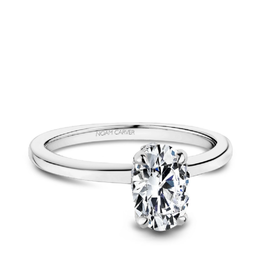 Noam Carver Noam Carver White Gold Oval Diamond Mount Ring
