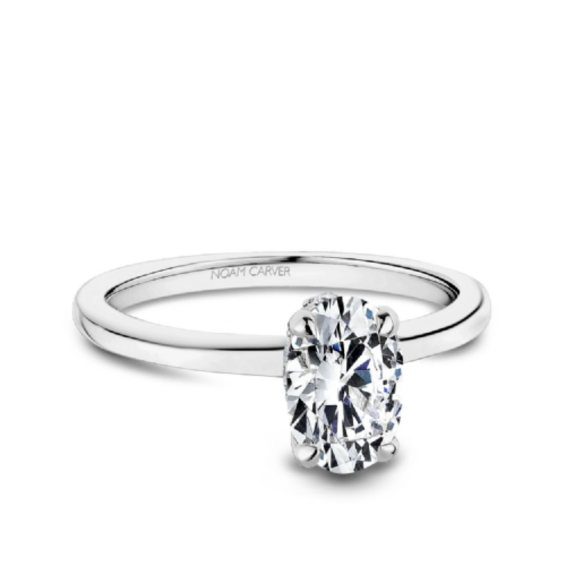 Noam Carver Noam Carver White Gold Oval Diamond Mount Ring