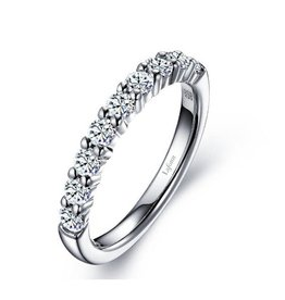 Lafonn Lafonn Sterling Silver Half Eternity Ring with Simulated Diamonds