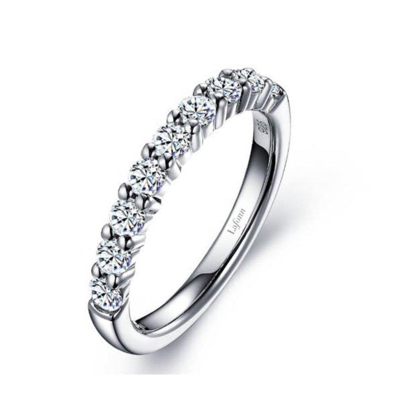 Lafonn Lafonn Sterling Silver Half Eternity Ring with Simulated Diamonds