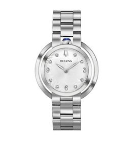 Bulova Bulova Rubaiyat Ladies Silver Tone Diamond Dial Watch