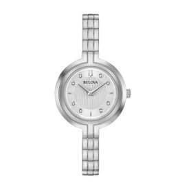 Bulova Bulova Ladies Silver Tone Diamond Dial Watch
