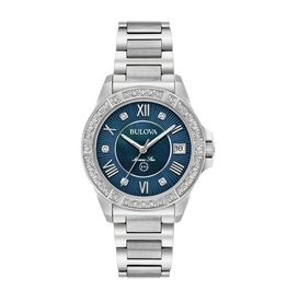 Bulova Bulova Marine Star Ladies Diamond and Midnight Blue Mother of Pearl Dial Watch