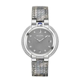 Bulova Bulova Rubaiyat Ladies Gray Leather Strap Diamond Watch