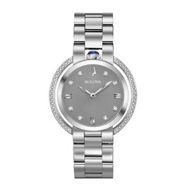 Bulova Bulova Rubaiyat Ladies Silver Tone Diamond Watch