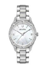 Bulova Bulova Classic Ladies Silver Tone Diamonds with Mother of Pearl Dial Watch