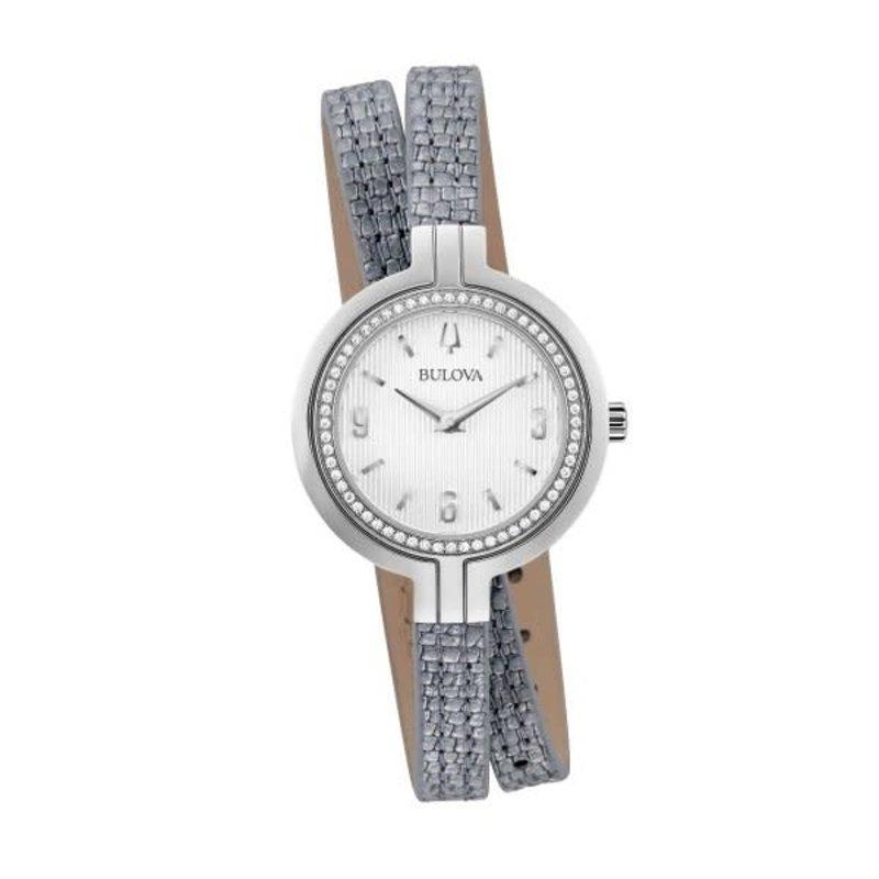 Bulova Bulova Ladies Diamonds and Silver Leather Double Wrap Strap Watch