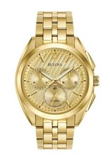 Bulova Bulova Curv Mens Chronograph Gold Tone Watch