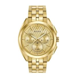 Bulova Bulova Curv Mens Chronograph Gold Tone Watch
