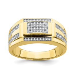 Yellow Gold Men's CZ Fancy Ring
