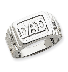 White Gold Diamond DAD Ring