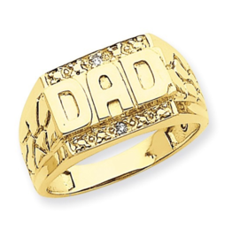 Yellow Gold Diamond DAD Ring