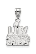 Sterling Silver Rhodium Kansas City Chiefs Super Bowl Champions Pendant