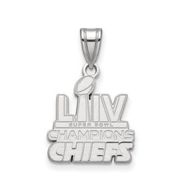 Sterling Silver Rhodium Kansas City Chiefs Super Bowl Champions Pendant