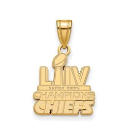 Sterling Silver Gold Tone Kansas City Chiefs Super Bowl Champions Pendant