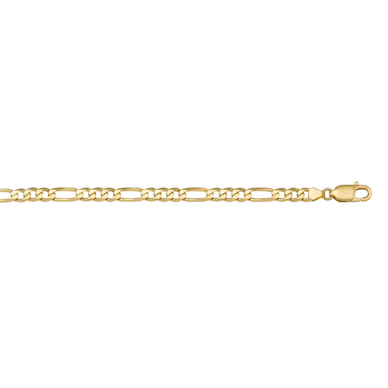 10K Yellow Gold 5.1mm Figaro Chains (18 - 24in)