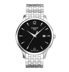Tissot Tissot Tradition Mens Silver Tone Black Dial Watch