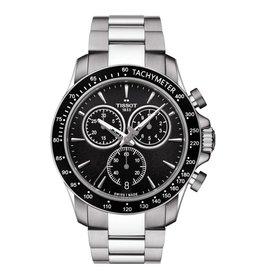 Tissot Tissot V8 Mens Chronograph Silver Tone Black Dial Watch