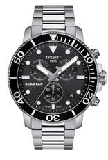 Tissot Tissot Seastar 1000 Mens Chronograph Silver Tone Black Dial Watch