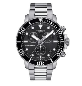 Tissot Tissot Seastar 1000 Chronograph Silver Tone Black Dial Watch