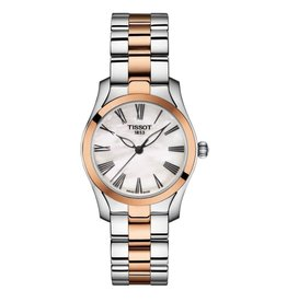 Tissot Tissot T-Wave Ladies Two Tone Mother of Pearl Dial Watch