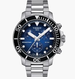 Tissot Tissot Seastar 1000 Mens Chronograph Silver Tone Blue Dial Watch