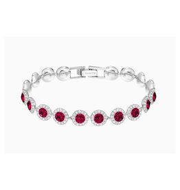 Swarovski Swarovski Angelic Bracelet, Red, Rhodium Plated