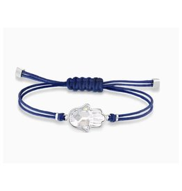Swarovski Swarovski Power Collection Hamsa Hand Bracelet, Blue, Stainless Steel