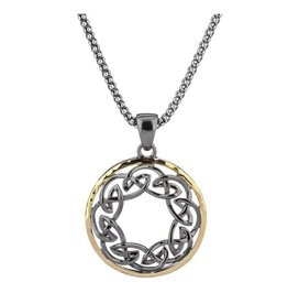 Keith Jack Keith Jack Silver and Gold Celtic Path of Life Necklace