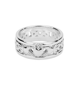 Keith Jack Keith Jack Sterling Silver Celtic Claddagh Ring
