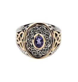 Keith Jack Keith Jack Silver and 10K Yellow Gold Mens Celtic Ring