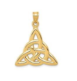 14K Yellow Gold Polished Trinity Pendant