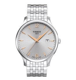 Tissot Tissot Tradition Mens Silver Tone with Silver Dial Watch