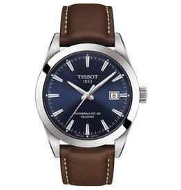 Tissot Tissot Powermatic 80 Silicium Blue Dial Brown Leather Strap