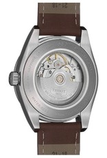 Tissot Tissot Powermatic 80 Silicium Mens Blue Dial Brown Leather Strap Watch