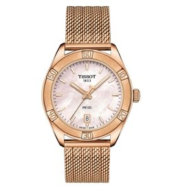 Tissot Tissot PR 100 Sport Chic Ladies Rose Tone Pink Mother of Pearl Dial Watch